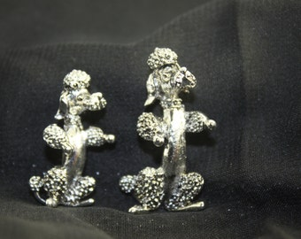 Silver Poodle pins by Gerrys Vintage bright and beautiful