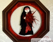 ON SALE-Mixed Media Muse of Dark Passion
