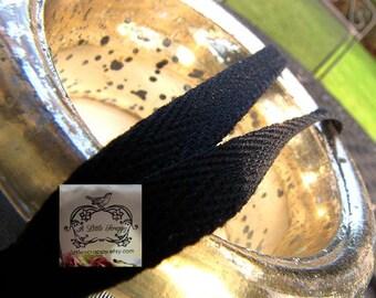 Cotton Twill Ribbon Black