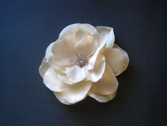 Ivory Bridal Hair clip Handmade Wedding