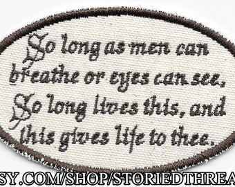 Shakespeare, Sonnet 18 Patch