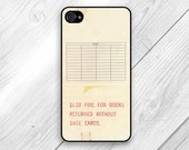iPhone 5 case iPhone  5s 5c case iphone 4 4s case / Galaxy Case Galaxy Cover s4 with image of Vintage Library Card Catalog / check out #004
