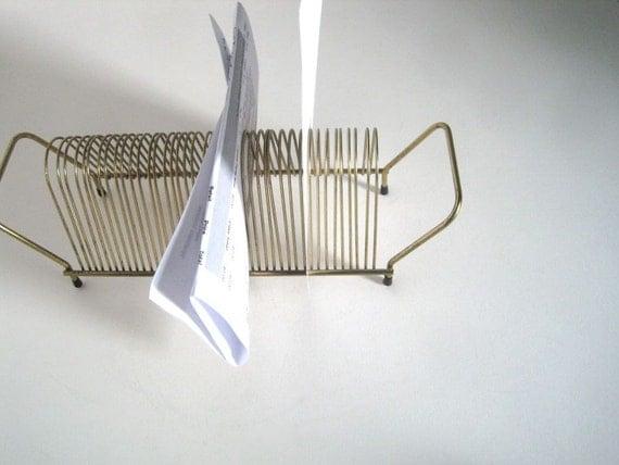 wire letter holder envelope holder pay your bills desk