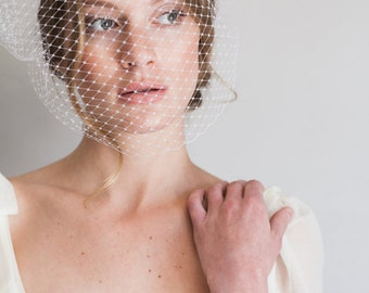 18in french netting bandeau style veil #1009