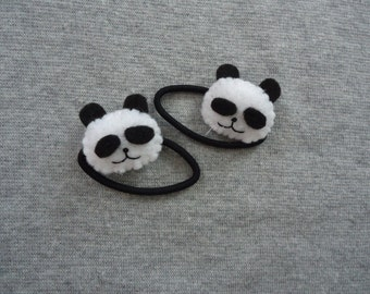 Panda Ponytail Holders