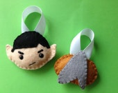 Star Trek Ornaments - OOAK & Ready to Ship - Set of Two
