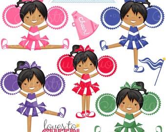Gimme A CHEER V2 Cute Digital Clipart - Commercial Use Ok - Cheerleading Clipart, Cheerleading Graphics, Digital Art