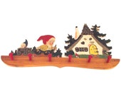 Sale 50% Off, Vintage Painted Wooden Romanian Gnome Coat Rack