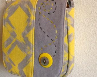 handbag yellow and gray