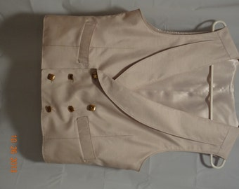 Mens Double Breasted Shawl Collar Vest