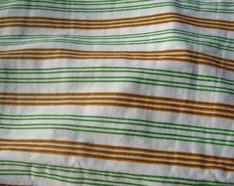 Vintage Rod Pocket Curtain Panels, Stripes, Striped, Orange and Green, Retro