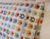 Handmade Cotton Pillowcase Children's, Cotton Pillowcase, Cotton Bedding, Elephants, Girls Bedding, Teen Bedding, Cotton Pillow Cover, Maine