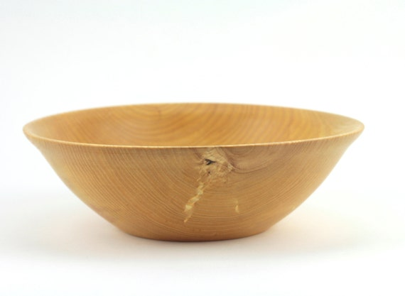 Wooden  Ash Bowl / Hand Turned  Serving Bowl