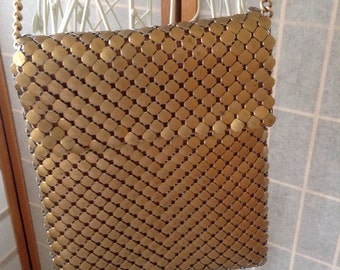 Gold Metal Mesh Purse