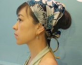 Head scarf -Multi size TIe Flower in Brown