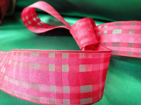 How To Basket Weave Tulle : Yards quot mm width fuchsia azalea basket weave