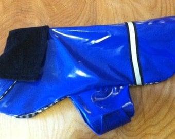 Blue Dog Rain Jacket, Dog Rainjacket, Dog Coat, Dog Jackets, Dog Jacket