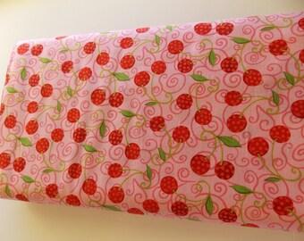 Robert Kaufman Fruit basket cherries pink cherry
