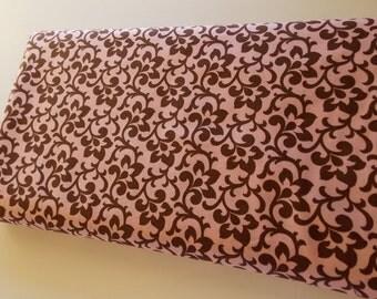 Robert Kaufman Metro Living surf brown pink fabric