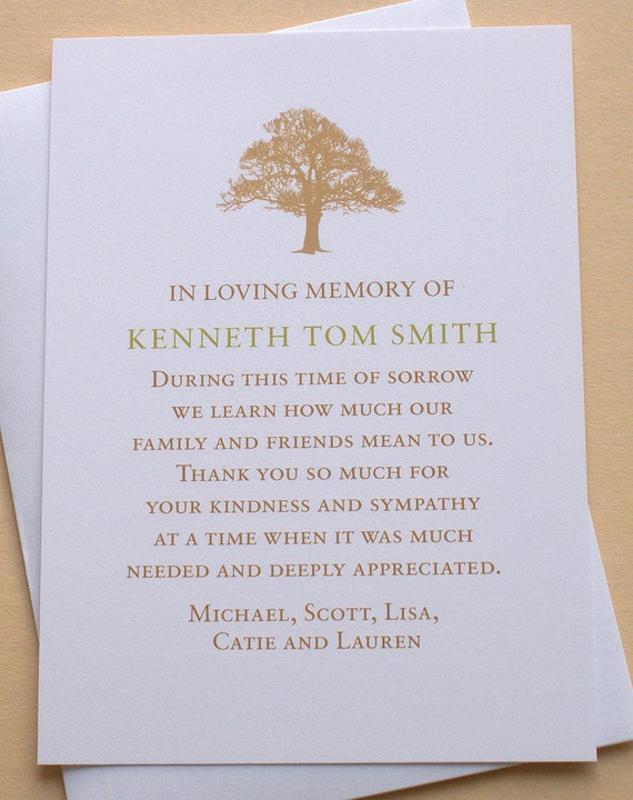 sympathy thank you cards with a strong treezdesigns0107