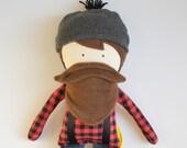 Buffalo Plaid Paul Bunyan...A Man Doll, Rag Doll, Boy Doll, Bearded Doll,