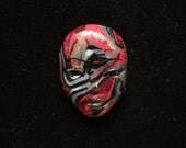 Swirl Face Cabochon Mokume Gane Goddess Face CAB Polymer Clay Beading Focal Doll Face