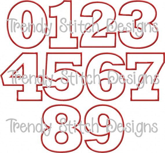 Free Number Machine Applique Designs