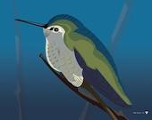 Hummingbird Print 11x14 print