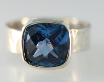 Bue Zircon and Sterling Ring