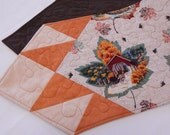 Fall Table Runner Maple Leafs, Covered Bridges, Horses
