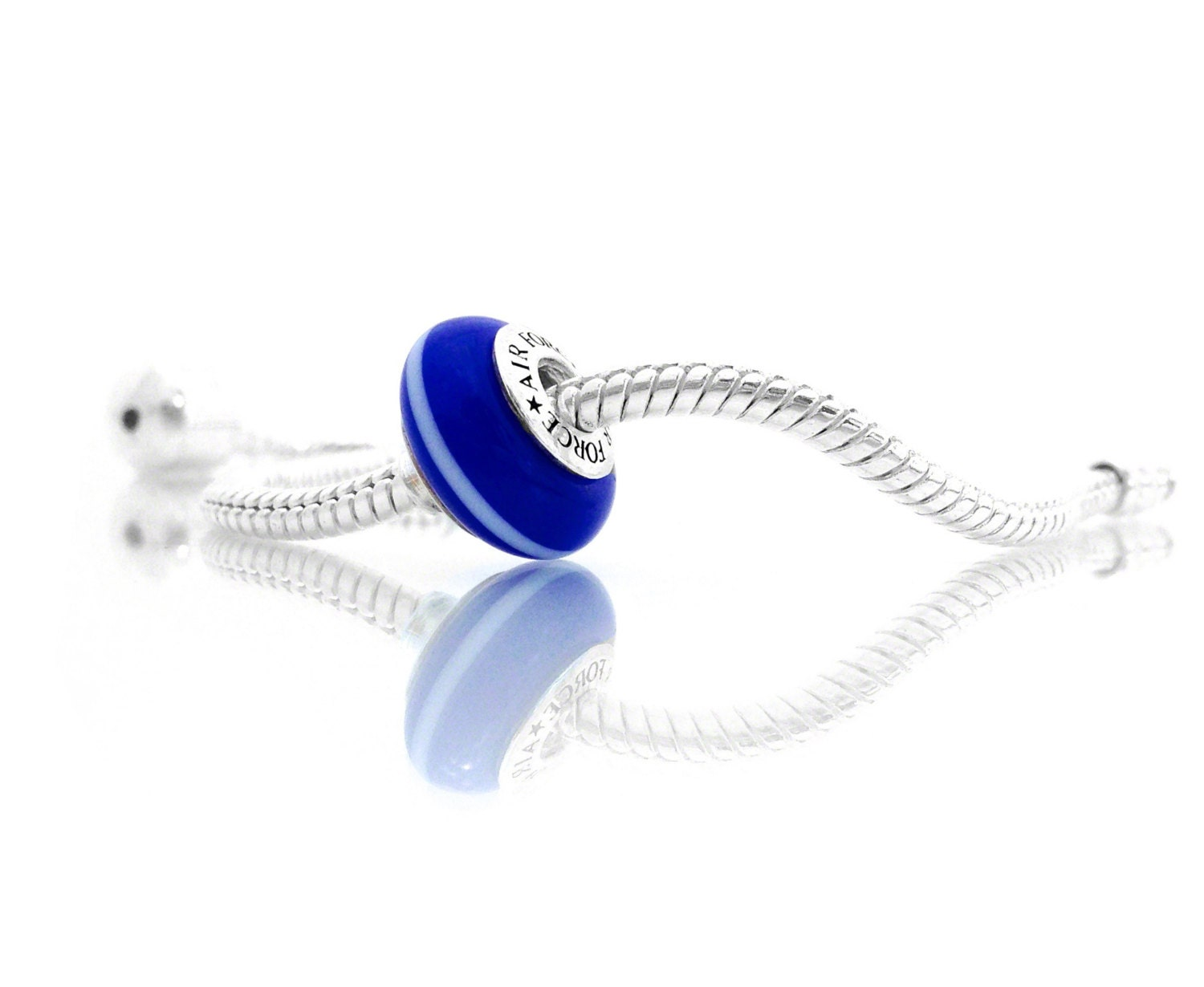 thin line jewelry air charm cobalt blue by