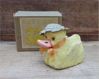 FRICTION DUCK TOY, Made in Japan, Original Box, 1950's, Vintage Animal Toy