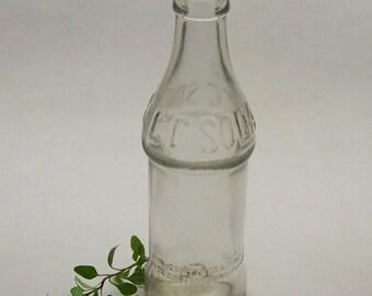 Vintage Soda Bottle Coca-Cola Bottling Co C.C. Soda, Antique Soda Bottle, Winfield KS, Clear Soda Bottle, Farmhouse Decor, Rustic Home Decor
