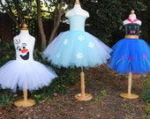 Frozen Tutu Dress Elsa Anna or Olaf Halloween Costume or Frozen Birthday Party Outfit