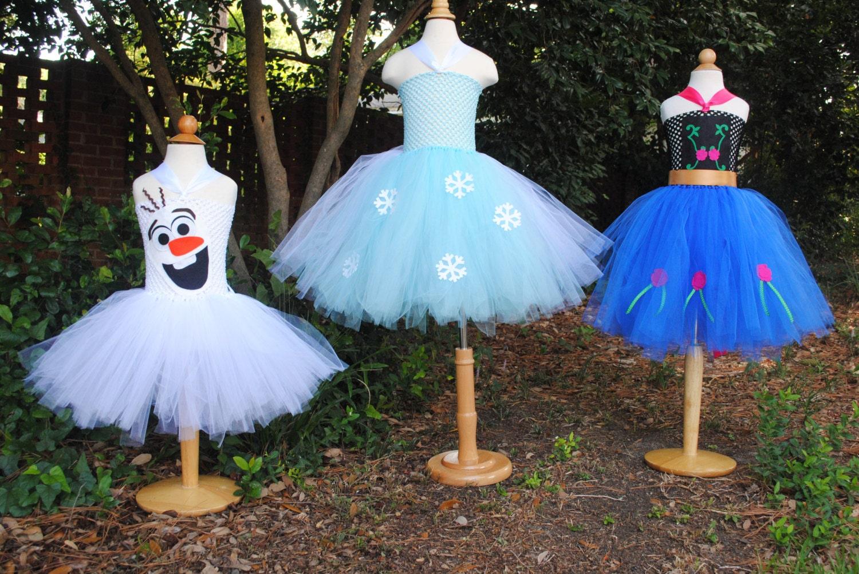 Frozen Tutu Dress Elsa Anna or Olaf Halloween Costume or