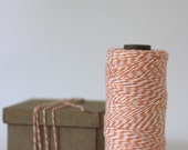 Peach Apricot Orange & White Bakers Twine - 10 metres - Perfect for Gift Wrapping or Crafts