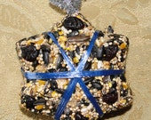 Bird Seed Feeder 1/4 lb. Snowflake Shape ornament cake - wreath