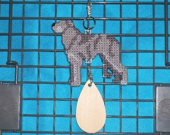 Scottish Deerhound dog home decor hang anywhere Crate Tag in plastic canvas, Magnet option