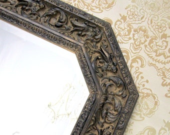 Popular items for vintage frame mirror on etsy for Long narrow mirrors for sale