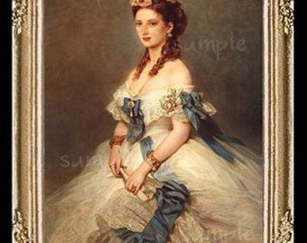 1800's Portrait of A Lady Miniature Dollhouse Art Picture 6051