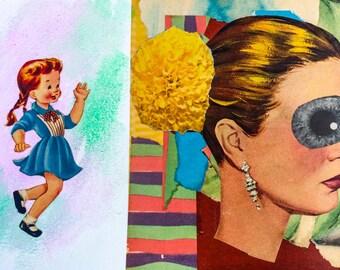 Museum Trip #1 - Original Collage