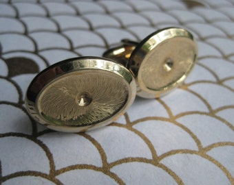 Vintage Hickock Cuff Links Gold Tone with texture Free Shipping