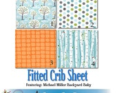 Fitted Crib Sheet - Featuring Michael Miller Backyard Baby, You Choose Fabric