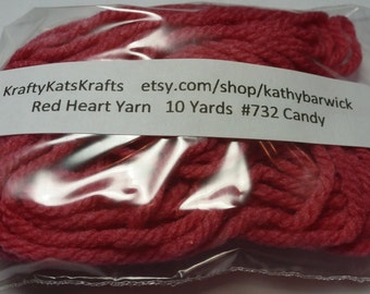 10 Yards Red Heart Yarn #0732 candy