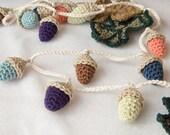 Custom order for Caroline - Crochet Acorn Garland Home Decor