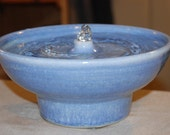 "Ceramic Cat Fountain, Handmade, Foodsafe - ""Polar Spring""- 9.25 Inch Diameter"