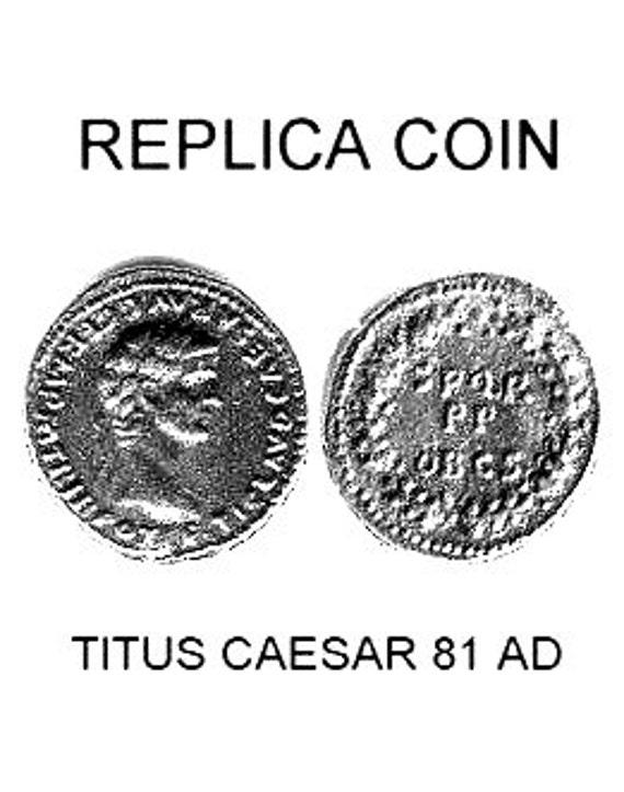 Reproduction Ancient Denarius Coin of Roman Emperor Titus Caesar  Solid Sterling Silver Free Domestic Shipping