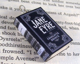Miniature Book Necklace Charm Jane Eyre