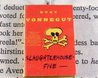 Miniature Classic Novels Book Necklace Charm Slaughterhouse Five