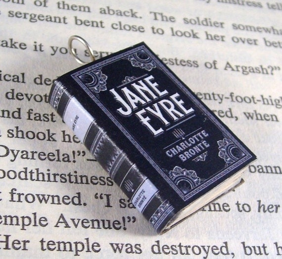 Miniature Classic Novels Book Necklace Charm Jane Eyre